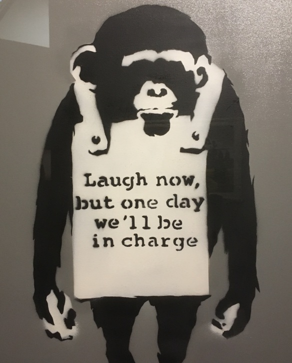 Banksy: Laugh Now (2005) [Photo by Rory Manchee]